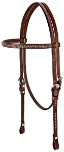 Weaver Leather Pony Headstall with Spots, Brown