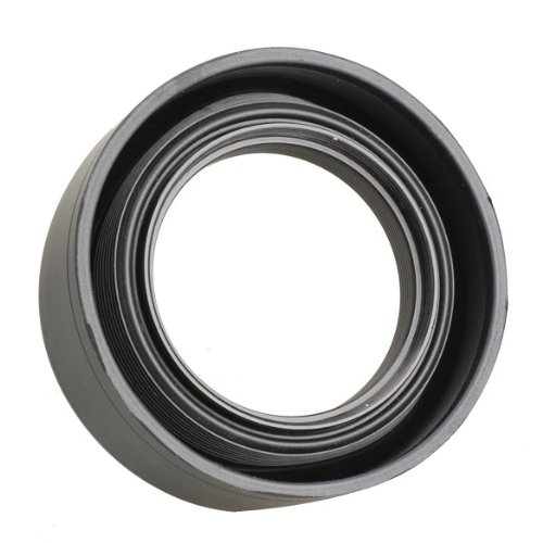 Parasoles para Objetivos Lens Hood Vanpower Capucha de lente de goma universal est/ándar de 52 mm para lente de c/ámara Sony Nikon Sony