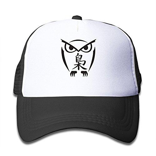 Price comparison product image Owl With Kanji Tattoo Design Mesh Kids Snapback Cap Hat