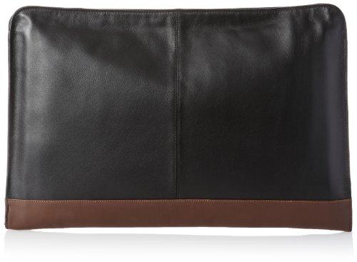 Derek Alexander Underarm Folio, Black/Burgundy, One Size (Leather Document Case)