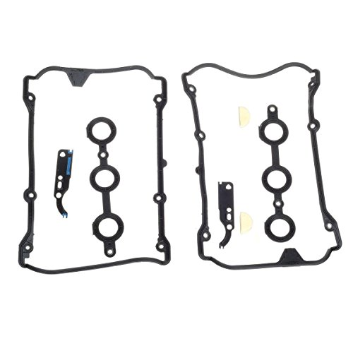Volkswagen Passat 98-05 V6 2.8L Engine Valve Cover Gasket with Engine Timing Chain Tensioner Gasket (Timing Cover Gasket Cylinders)