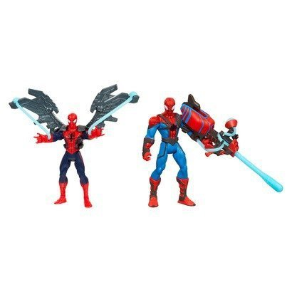 Ultimate Spiderman Suits (Marvel Ultimate Spider-man Power Webs Exclusive Action Figures 2-pack Web Wingsuit & Crossbow Chaos)