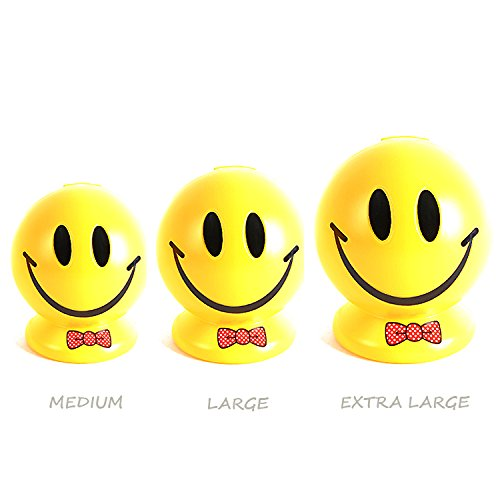 Yellow Smiley Happy Face Smile Man Piggy Bank Coin Bank - Large