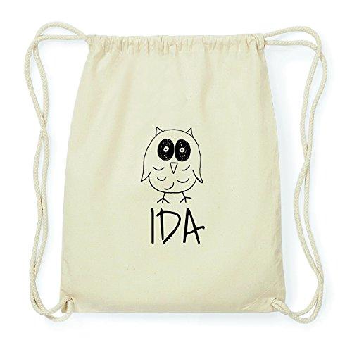 JOllipets IDA Hipster Turnbeutel Tasche Rucksack aus Baumwolle Design: Eule FfLKTDg0