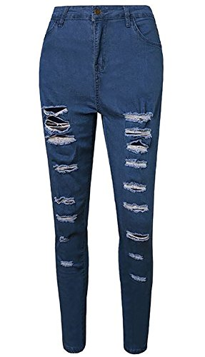 Top Beautife Women's Juniors High Rise Jeans Ripped Skinny Distressed Boyfriend Denim Pants for sale