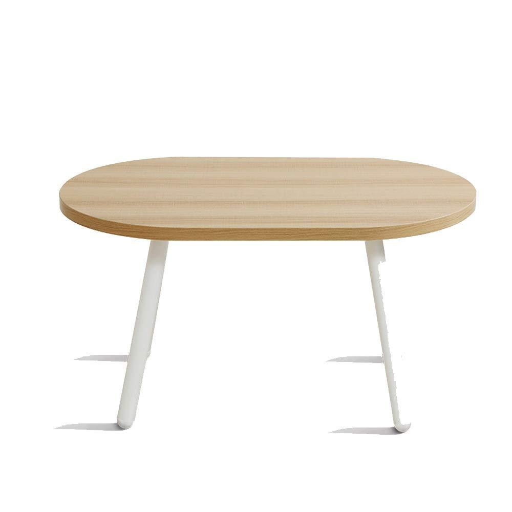 YNN ポータブルテーブル コーヒーテーブルオーバルスナック/テレフォンテーブルモダンエンド/サイドテーブルバルコニー&リビングルーム用のティーテーブル (色 : 白)  白 B07P68K8SY