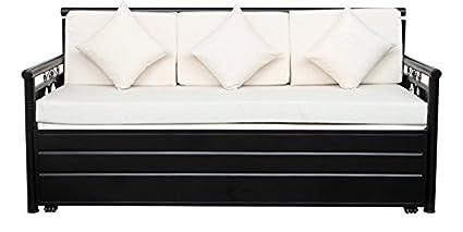 Royal Interiors Matte Finish Sofa Cum Bed With Hydraulic Storage
