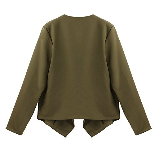 MIRRAY Solid Open V Coats Neck Womens Loose Front Autumn Green Top Outwear Ladies Outerwear Sleeve Wing Large Long Bat Casual Cardigan Size Waterfall IIwr4