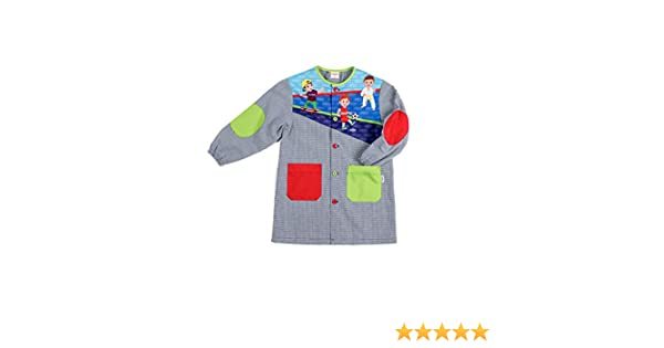Dyneke Bata escolar botón Deporte (personalización opcional gratuita con nombre bordado) (Talla 5): Amazon.es: Ropa y accesorios