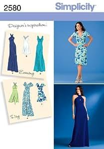 Simplicity 2580 - Patrones de costura para hacer vestidos de fiesta (R5 14-16-18-20-22)