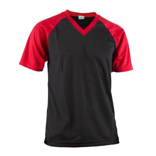 BCPOLO Herren V-Ausschnitt Raglan T- Shirt. Schwarz