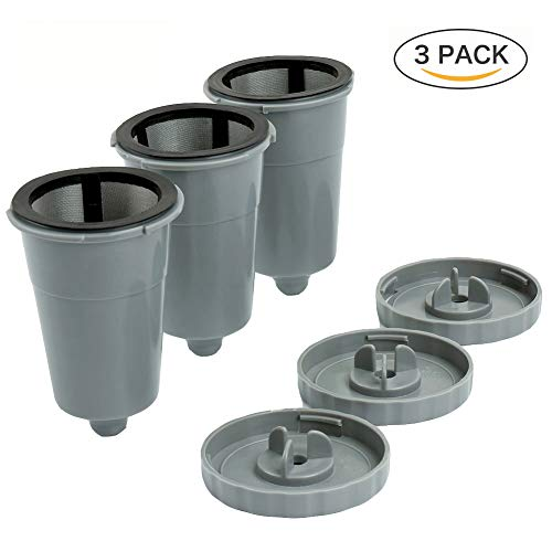 Reusable K Cups For Keurig 1.0 Brewers Universal Fit For B30 B40 B50 B60 B70 Series, Easy To Use Refillable Single Cup Coffee Filters, Eco Friendly Stainless Steel Mesh Filter - B60 Keurig B40
