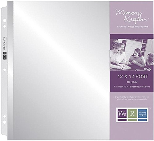 We R Memory Keepers 660151 Post Album Page Protector, 12x12, Ultra Crystal Clear