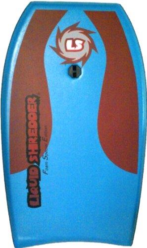 Liquid Shredder FSE Slick Bottom Bodyboard (Blue, 33-Inch)