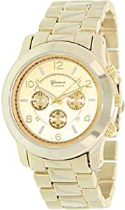 Geneva Platinum Women's 9158.Gold.Gold Gold Metal Quartz Watch with Gold Dial