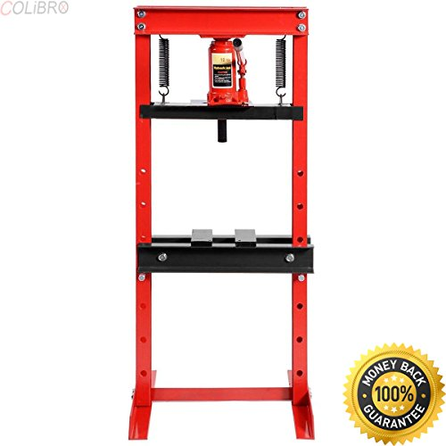 COLIBROX--12 Ton Shop Press Floor H-Frame Press Plates Hydraulic Jack Stand Equipment. hydraulic floor jacks. hydraulic jack rentals near me. house floor jacks lowes. bottle jack tractor supply. (Ton Press Hydraulic Jack Bottle)