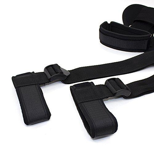 Salovin Bed Restraints Set Kits, Exercise Training Straps, Adjustable Cuffs for Wrist Ankle Bondageromance Restraint Kit Straps Set Adult Toy for Women Couples