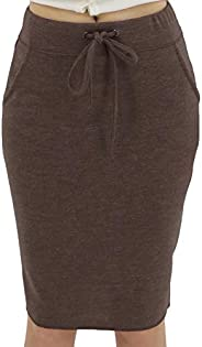 BENANCY Women's High Waist Stretch Pencil Skirt with Poc