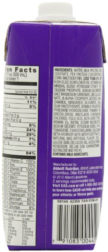 EAS Myoplex Original Ready-to-Drink Nutrition Shake, Strawberry, 4 Count, 17 Ounce (Pack of 3)