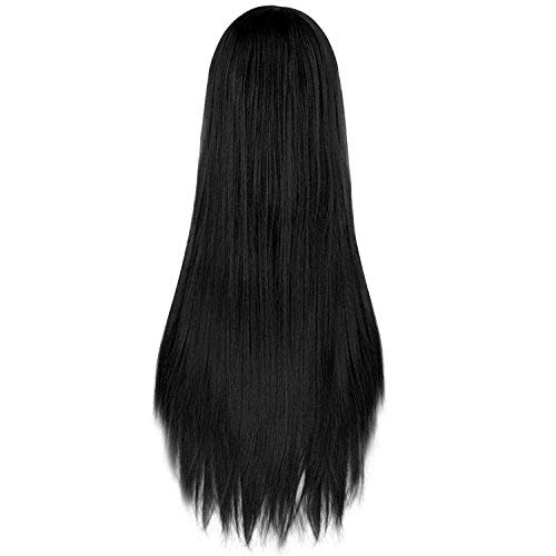 Rbenxia 32'' Women's Cosplay Wig Hair Wig Long Straight Costume Party Full Wigs Black -