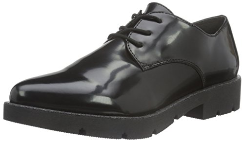 Brush 37 Gris Oxfords 23309 Femme 025 Eu Tamaris Noir black IUq8Bw6
