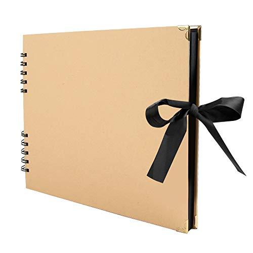 "Baobë Scrapbook 80 Pages Photo Album 12"" x 9"" DIY Anniversary Wedding Birthday Valentines Day Gift"