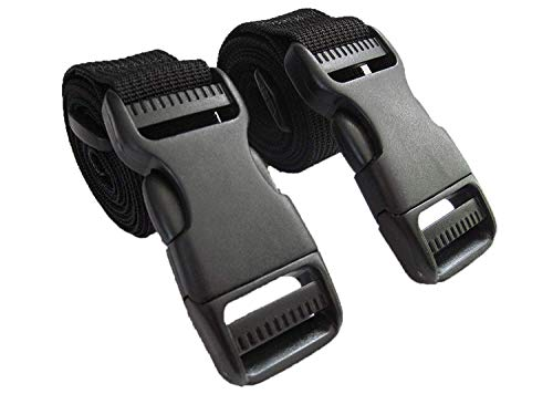 Molle Backpack Accessory Straps - Quick Release Buckle (Black (Military Spec Nylon))