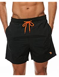TBMPOY Men's Swim Trunks Quick Dry Beach Shorts with Mesh Lining
