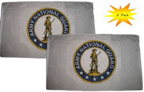 3x5 3'x5' Wholesale Set (2 Pack) Army National Guard Emblem Crest Flag Banner BEST Garden Outdor Decor polyester material FLAG PREMIUM Vivid Color and UV Fade Resistant