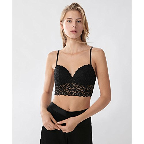 ZHFC-Simple Black Lace Bra bra 80 B