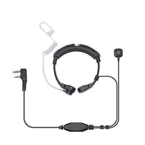 [해외]EasyTalk 켄 우드 용 트랜시버 용 인 마이크 뼈 전도 이어폰 PTT 2 핀 / Throat mic bone conduction earphone PTT 2 pin for easytalk Kenwood Transceiver