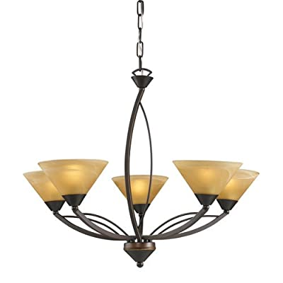 ELK Lighting 7647/5 Five Light Up Chandelier from the Elysburg Collection,