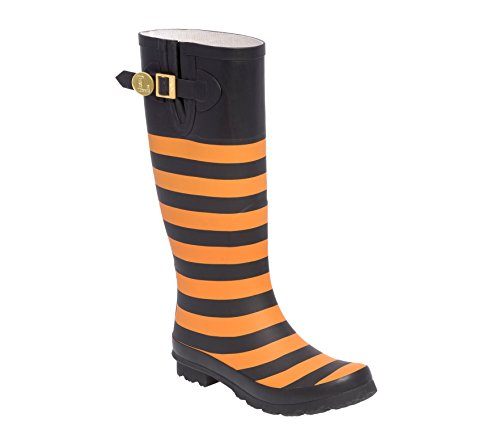 and U Lillybee Rainboots Bright Black F Orange Initial fZwtdq