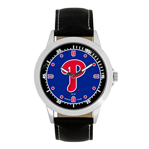 (Game Time- MLB Philadelphia Phillies Player Series Watch, Black, 44.00mm)