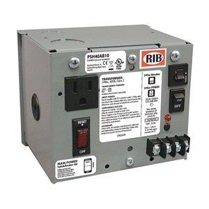 Functional Devices (RIB) PSH40AB10 Enclosed Single 40VA 120 to 24Vac UL class 2 power supply 10A main breaker