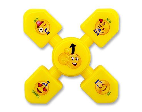 Hanukkah Emoji Dreidel Yellow Fidget Spinner! Chanukah Toys!