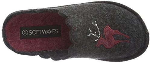 Grey Gris Femme 250 Softwaves Chaussons Dk Hausschuh Grau 0qWwC6