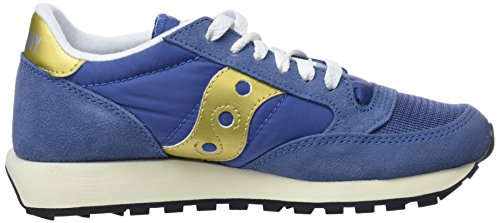 Bleu Marine 30 Saucony Jazz Vintage Chaussures Gymnastique Femme Original Gold de Doré Navy qz4qx60w