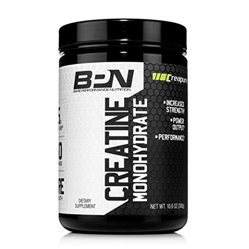 Bare Performance Nutrition, Creatine, Trademark Creapure Formula, 5g of Creapure per Serving, Improve Performance & Strength (60 Servings, Unflavored)