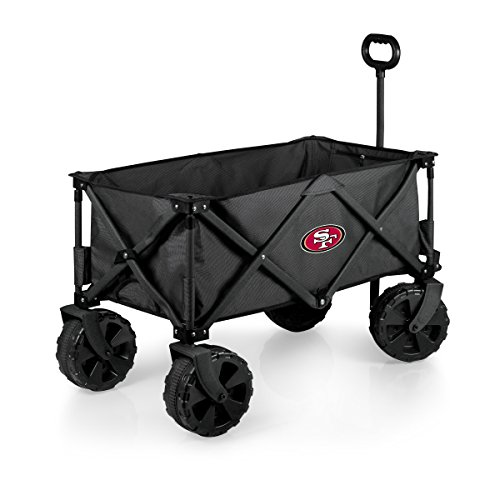 PICNIC TIME NFL San Francisco 49ers Elite Edition Collapsible Adventure Wagon with All-Terrain Wheels