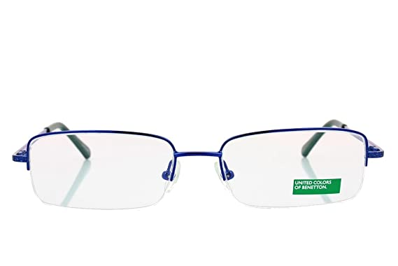 Amazon.com: Benetton Unisex be030 Azul – Lentes Lentes 53 mm ...