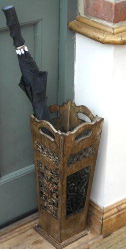 Classic Art Deco Style Wooden Umbrella Stand