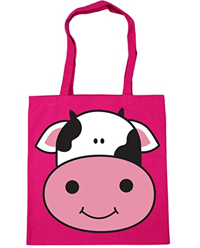 42cm Beach litres 10 Cow Gym x38cm Fuchsia Bag Shopping Tote HippoWarehouse aRqpIYw