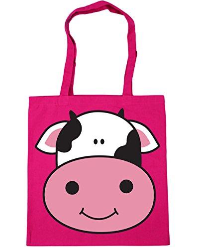 Gym litres Beach Fuchsia Bag 42cm Shopping 10 x38cm Tote Cow HippoWarehouse 7wztBc