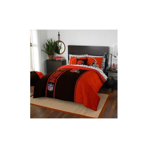 NFL Cleveland Browns Soft & Cozy 7-Piece Full Size Bed in a Bag Set by Northwest