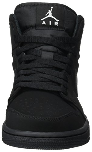 Nike Men's Air Jordan 1 Retro Mid Basketball Shoe Black/White-Black (12 D(M))