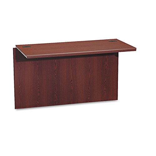 HON 10770NN 10700 Waterfall Edge Series 47 by 24 by 29-1/2-Inch Bridge for U Workstation, Mahogany