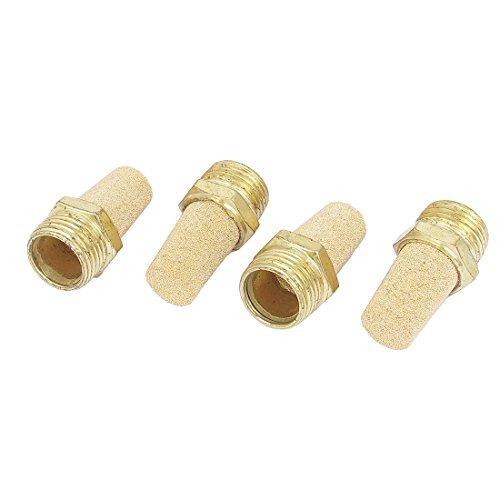 DealMux 1/2BSP Male Thread Brass Pneumatic Exhaust Silencer Muffler 4pcs DLM-B019K2AMGU