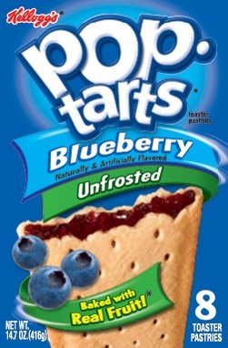 Kellogg Pop Tart No Frosting Blueberry 8ct - 6 Unit Pack