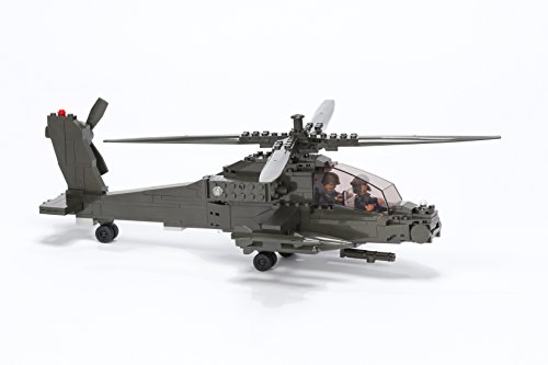 (Ultimate Soldier Attack Helicopter Military Building Kit, Green)